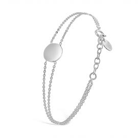 Sterling silver and multi rank Aglaé bracelet
