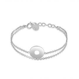 Multi layer sterling silver bracelet