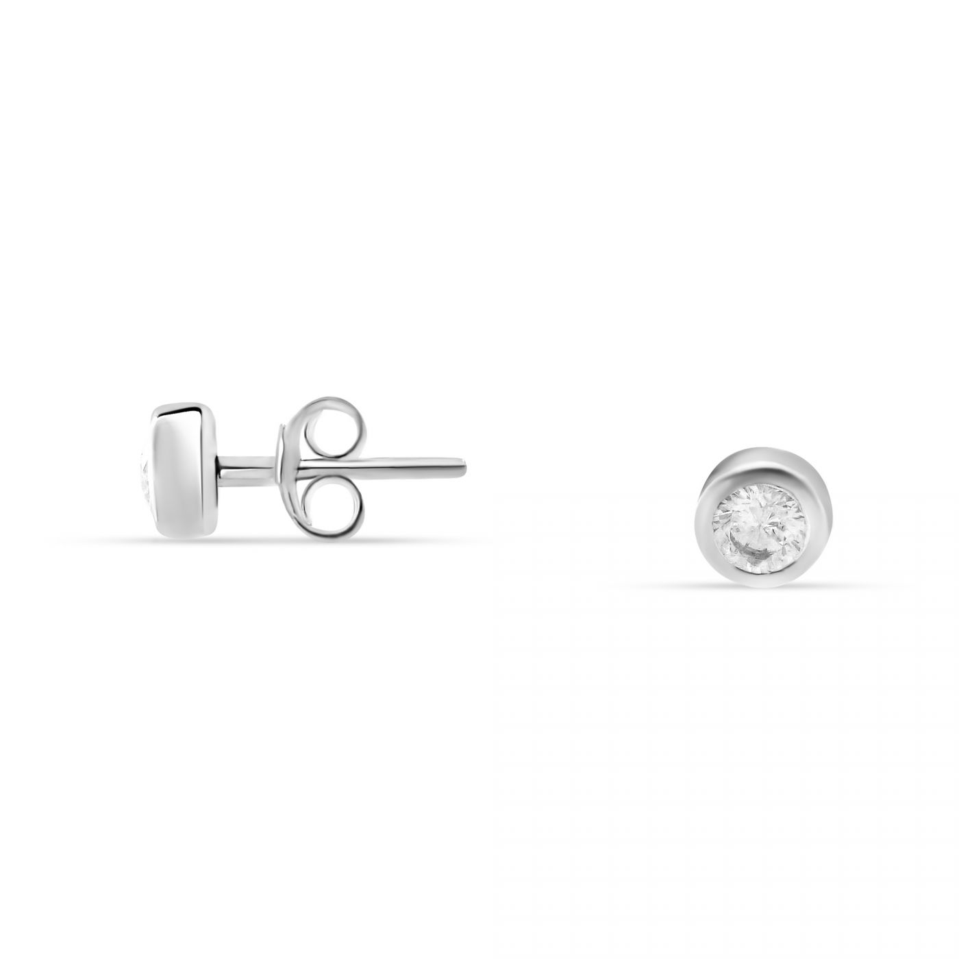 cubic zirconia image silver round earrings fiorelli stud